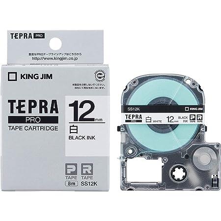 キングジム テープカートリッジ テプラPRO 12mm SS12K 白ラベル1個