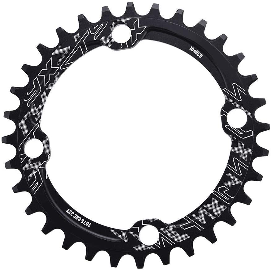 Mountain Bike Chainring 32//34//36//38T BCD 104 Narrow Wide Chainring Steel Single Crank Chain Ring Repair Parts for Road Bike Zyyini Bike Chain Ring