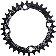 Keenso Plato de Bicicleta, Monoplato Bicicleta de Montaña 32/34/ 36/ 38T BCD 104 Aleación de Aluminio