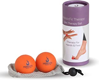 HolisticFit Therapy Massage Mini Balls - Instant Muscle Pain Relief. Proven Effective for Myofascial Release Tool, Deep Tissue Pressure Yoga & Trigger Point Therapy for Instant Muscle Pain Relief.