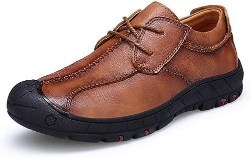 H&Y Herren Lederschuhe, Frühlings- Herbst Männer Männer Männer Atmungsaktive Gelegenheitsschuhe, Spitzen Schuhe, Wanderschuhe,E,44  Outlet zum Verkauf