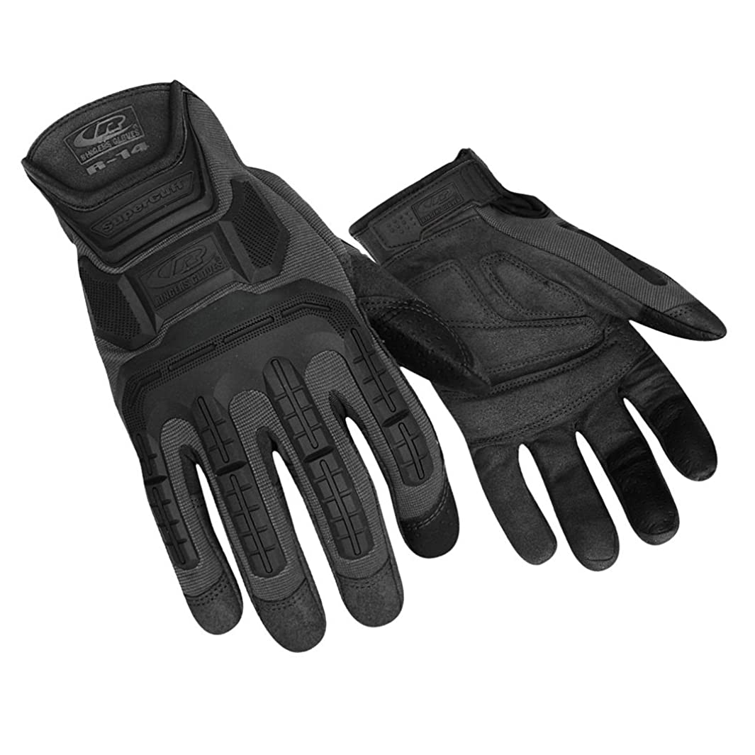 Ringers R-14 Mechanics Gloves 143-09 Cut Resistant, Black, Medium