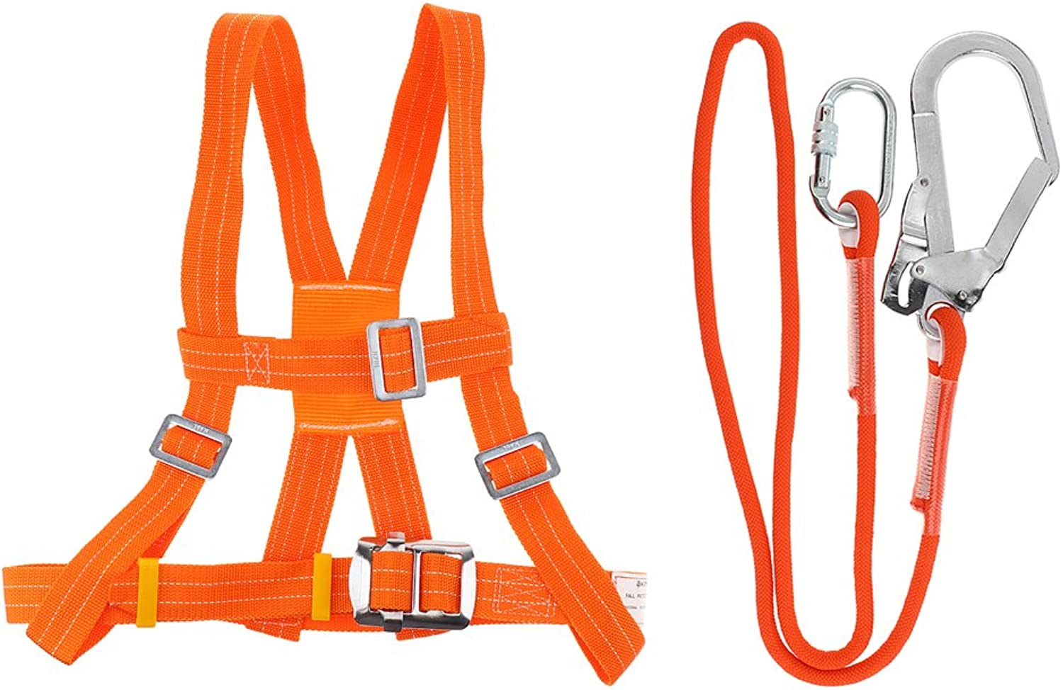 Homyl Outdoor Professional Tool Climbing Waist Chest Harness Safety Belt Rescue Rope with Adjust Buckle