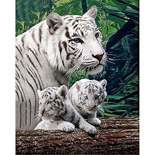 QRKJ 2000 Piezas de Rompecabezas de Madera para Adultos, Tigre Blanco, Rompecabezas Educativo, Juego Familiar, Mural, Juguetes, Regalo para Adultos, niños, Adolescentes, Rompecabezas