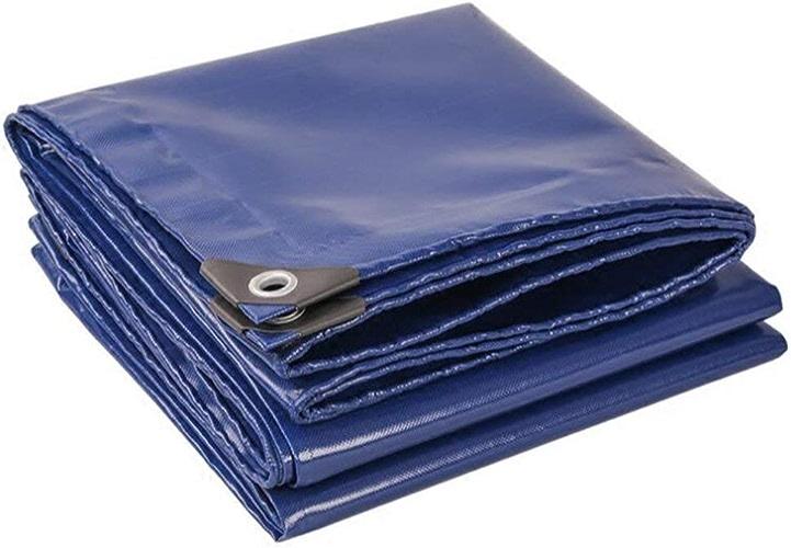 JINSH Tissu antipluie imperméable bache imperméable écran Solaire crème visière Hangar Tissu Toile Toile Camion bache résistance à la Corrosion Anti-vieillissement (Couleur   bleu, Taille   5  7m)