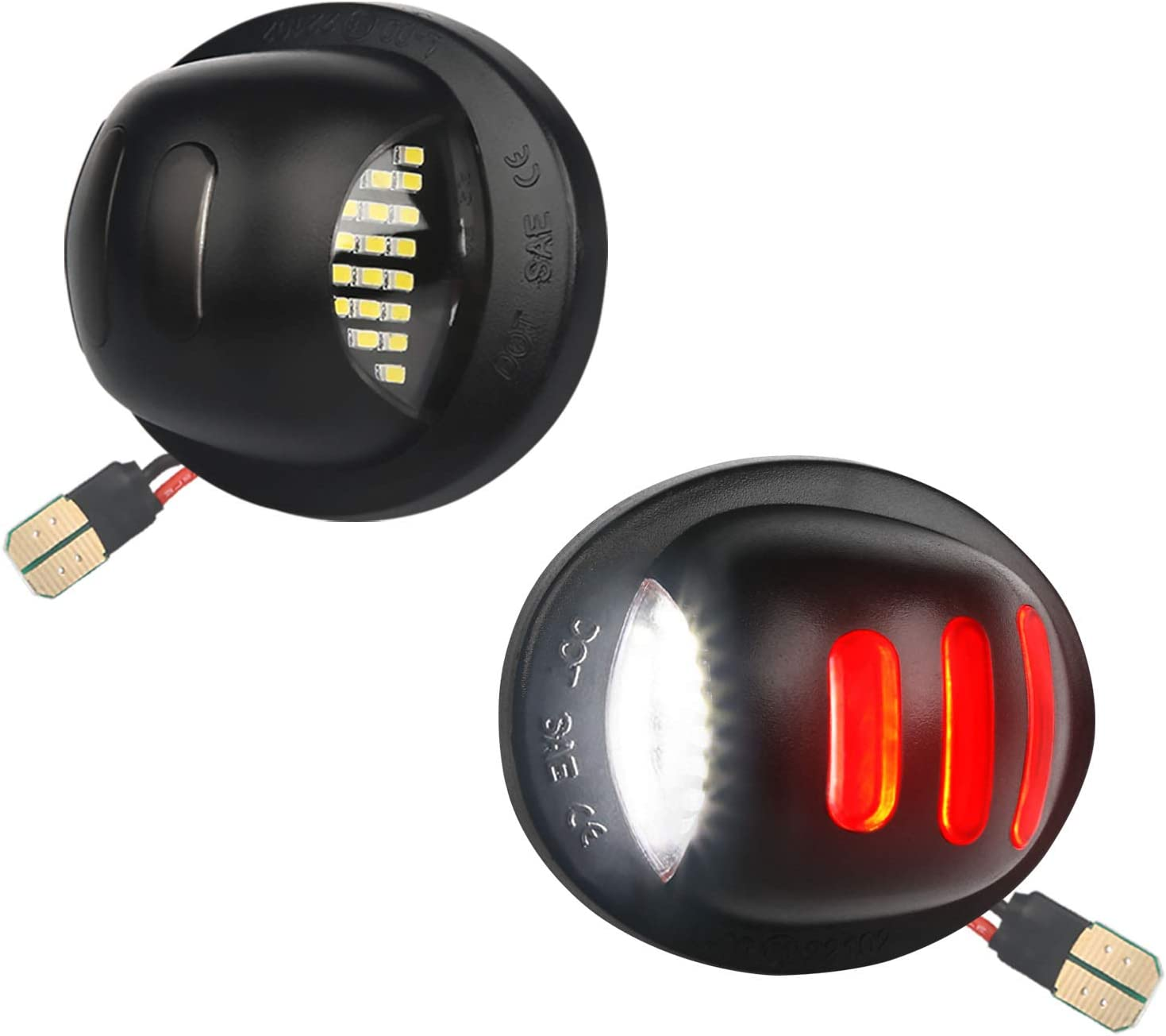 MbuyDIY LED License Plate Light Lamp OLED Neon with Surprise price free shipping Red Assembly