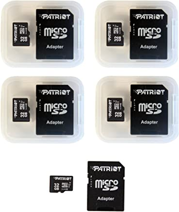 Patriot LX Series 32GB Micro SDHC - Class 10 UHS-I - 5 Pack (PSF32GMCSDHC5PK)