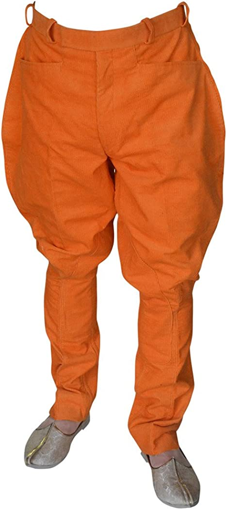 outlet INMONARCH Mens and Womens Orange Horse Direct store Riding Corduroy Pant Bree