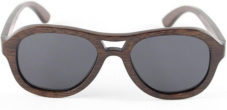 Men's Sunglasses Retro Bamboo Handmade Round Wooden Polarized UV Predection Sunglasses Driving Beach Sunglasses,