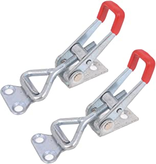 uxcell 396lbs Holding Capacity SUS304 Stainless Steel Pull-Action Latch Adjustable Toggle Clamp with Keyhole
