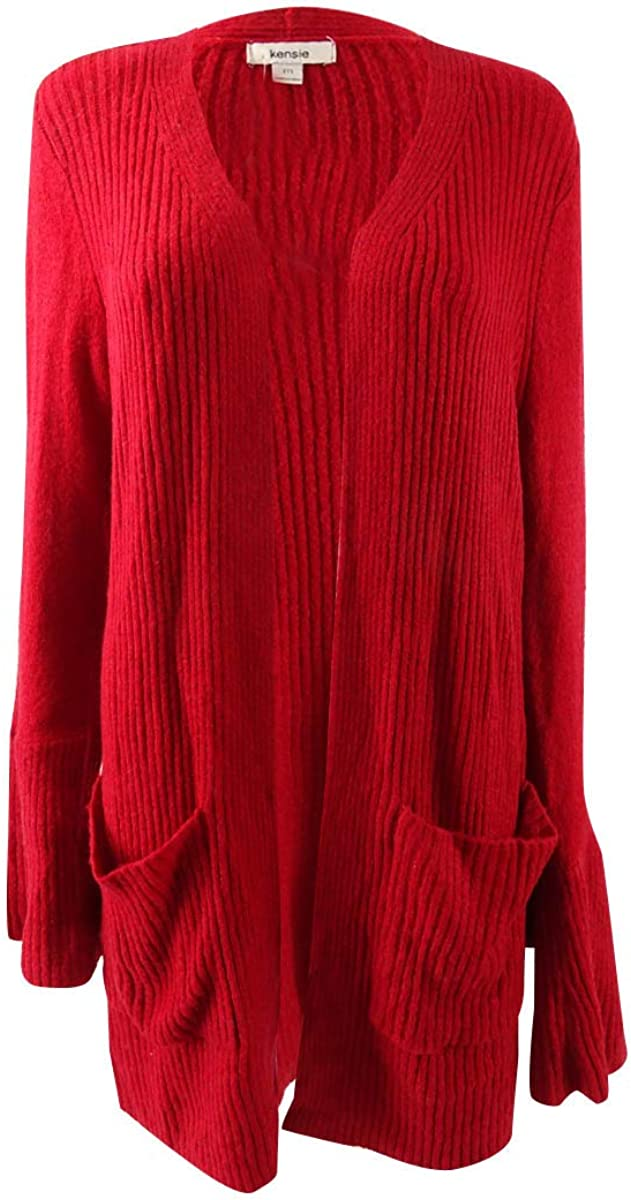kensie Warm Touch Open Cardigan with Bell Sleeve
