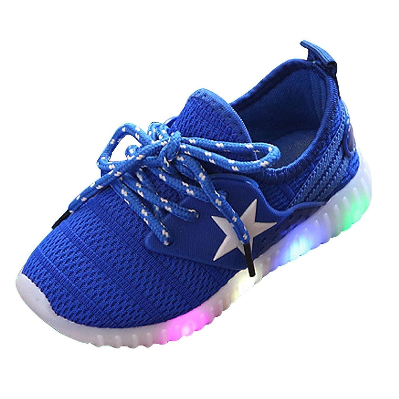 [Phylamp] 光る 光 スニーカー 子供靴 キッズ 綺麗 通学 履き心地良い 可愛い 柔らかい 防滑 ファッション ソフト シンプル 滑り止め 外出 厚底 春 夏 秋 13.3cm~22cm