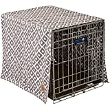 image of 2-sided reversible stylish patterned dog crate cover in three colors