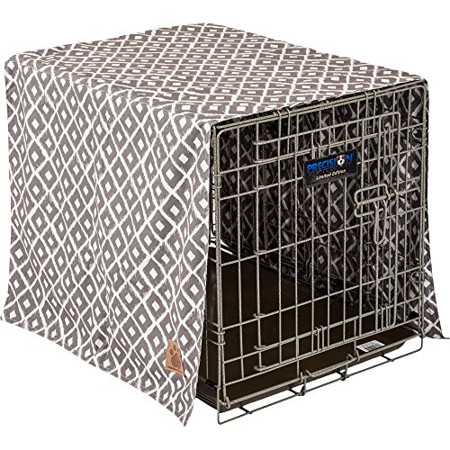 Precision Pet SnooZZy Ikat Crate Cover Gray