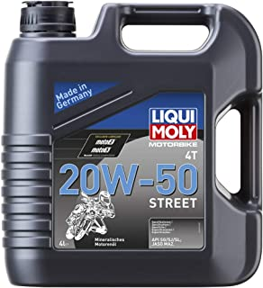 Best Liqui Moly 20064 Motorbike 4T 20W-50 Street Engine Oil - 4 Liter Review