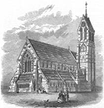 LONDON. The Church of St Jude, Gray's-Inn-Road - 1864 - old antique vintage print - engraving art picture prints of London Churches - Illustrated London News