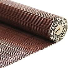 CAIJUN Roller Blinds Bamboo Roman Shades Walnut Color Custom Made Decorative Curtain 50% Light Filtering Sunscreen Anti-UV Venetian Blinds (Size : W 100xH 150cm)