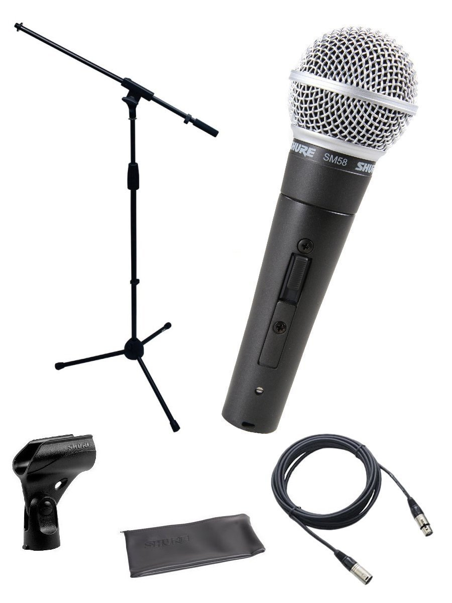 Microfono Shure SM58-S Bundle with on/off Switch clip and po