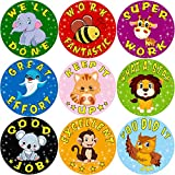 good job stickers for kids - Animal Reward Stickers for Kids Student Award 200Pcs Per Roll Sticker for Teacher Classroom