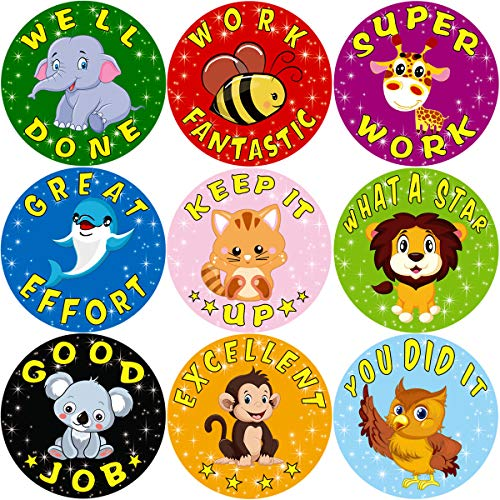 390 Childrens Reward Stickers Kids Motivation Merit Praise School Teacher Labels
