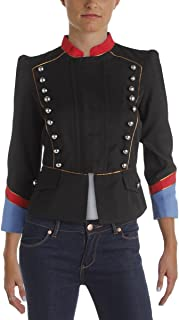 Marc by Marc Jacobs Victorian Women's Colorblock Studded Peplum Military Jacket