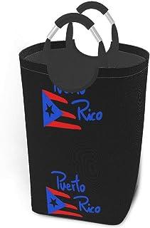 N\A Puerto Rico Paniers de Rangement Panier à Linge Sale Flexible Sac Organisateur écologique Sac de tri Amovible Chariot ...