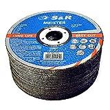 bleu Toolstar Lot de 10 disques abrasifs en acier inoxydable pour meuleuses dangle 125 mm 40 60 80 120