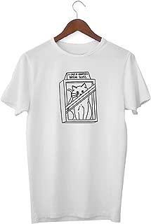 Cute Cat Love Unhappy Break Glass Emergency_KK016908 Shirt T-Shirt para Los Hombres Tshirt For Men - White