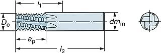 0.1575 Depth of Cut Maximum 3.2677 Overall Length 0.2362 Cutting Diameter Sandvik Coromant 1U000-0600-400-XA 1620 CoroMill Plura Solid Carbide End Mill with Quarter Circle Profile 14 mm Shank