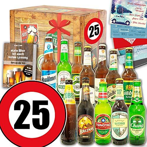 Geburtstagsgeschenk 25. ++ 12 Biere Welt & DE ++ Geschenk 25ter Geburtstag