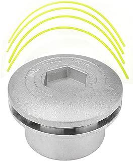 Minzhi Alluminio di alta qualit/à decespugliatore metallo Testina con 4 Trimmer Lines Ferro Erba Testa di taglio