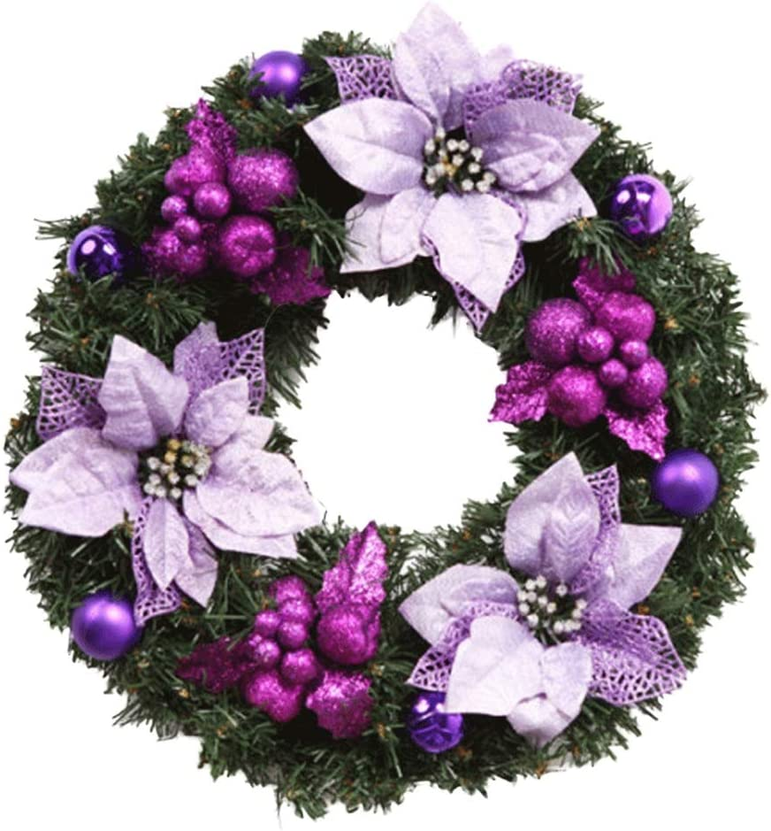 XINGZHE Christmas Decorations Lowest price Ranking TOP9 challenge Wreath D Purple Window
