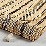 LLXNQ026 Bambusrollo, Natürlicher Bambusvorhang,Bambus Raffrollo,Fenster Sichtschutz Rollo Bambus Rollo Jalousine Innen/Außen,Geeignet für Garten/Türen/Fenster/Pavillons usw. (80x100cm/32x39in)
