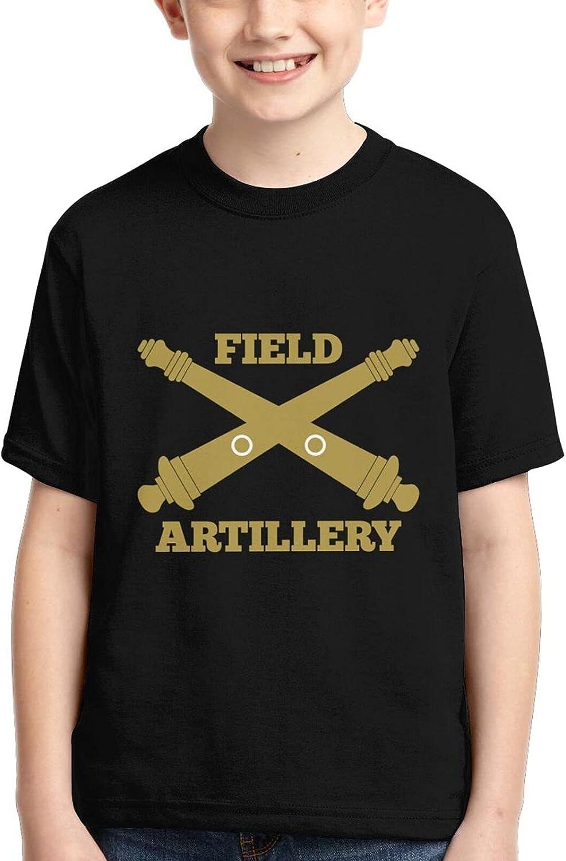 Army Field Artillery Boys Kids Teenager Tshirt Tops Casual T-Shirt Cool Clothing