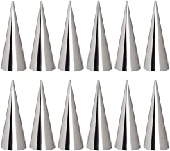 BESTONZON 12PCS Stainless Steel Pastry Roll Molds/Cream Horn Molds,Conical Tube Cone Pastry Roll,Kitchen Baking Tool(12.3 x 3.3 x 3.3cm)