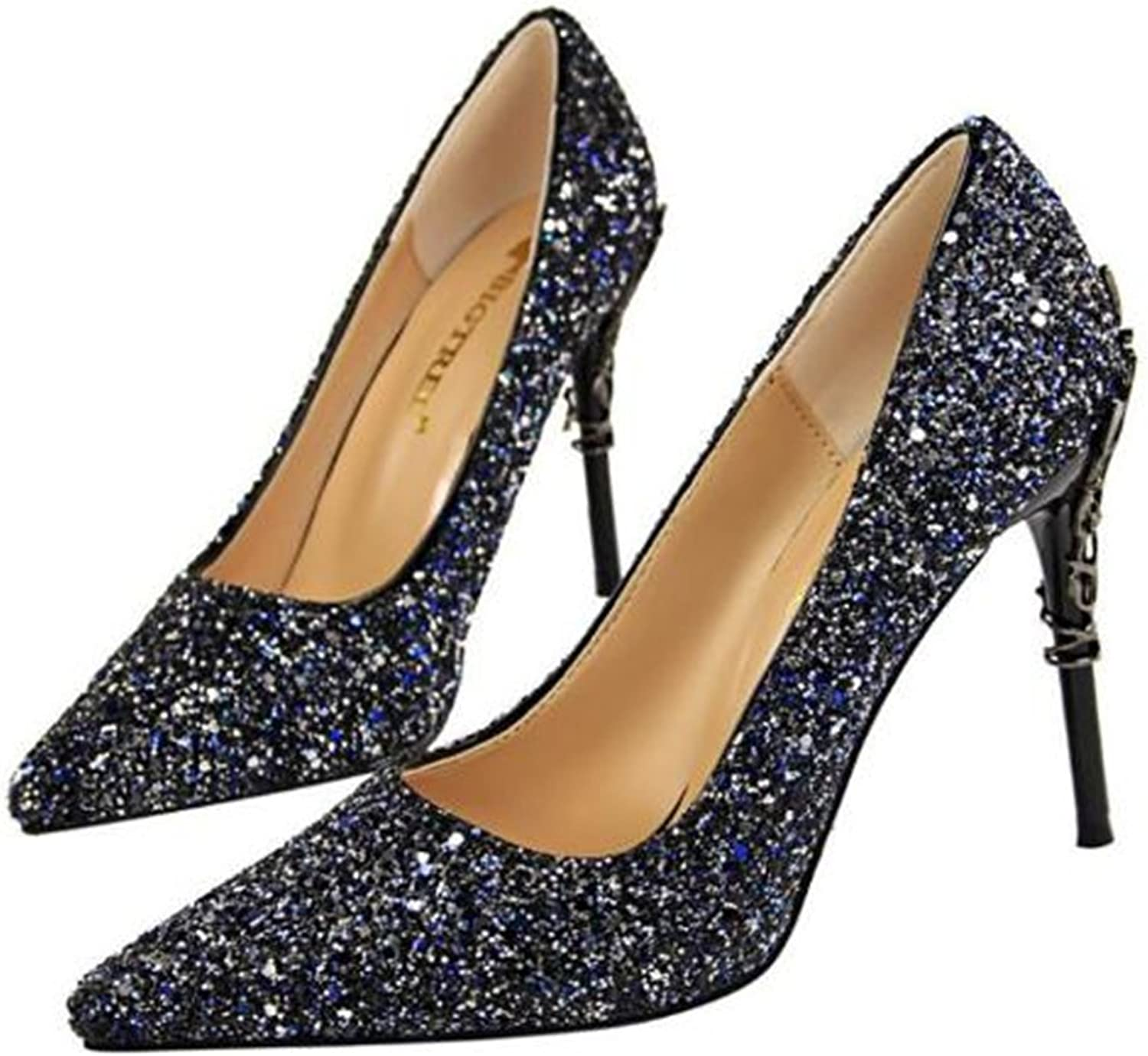 Coollight Metal with Sequined High Heels