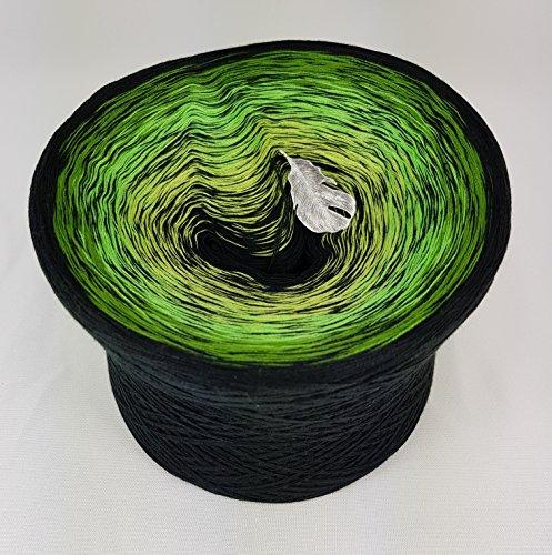 LiLu´s Märchengarne (69,00€/kg) Farbverlaufsgarn Baba Jaga 400g - 1520m 4 fädig Bobbel Wolle handstrickgarn