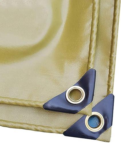 Bache Robustes   Couverture épaissie De Tente De Sol Imperméable Polyvalente dans Plusieurs Tailles   Kaki (Taille   4x5m)