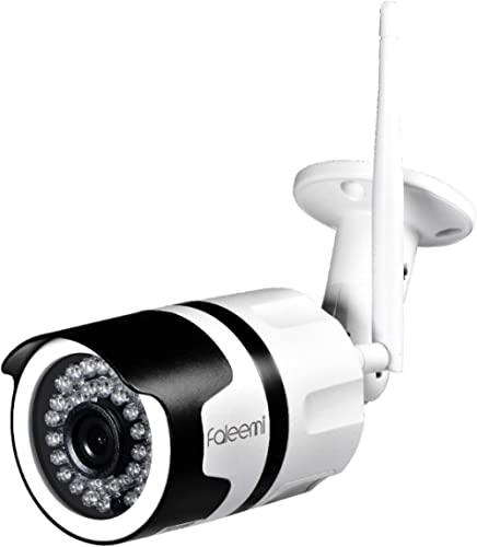 Faleemi 720P HD Outdoor Weatherproof WiFi IP Camera with Memory Card Slot, Home Security Surveillance Video Camera wi...