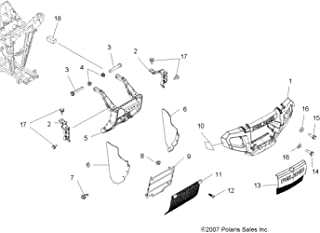 Polaris Front Bumper Assembly, Black, Genuine OEM Part 2633527-070, Qty 1
