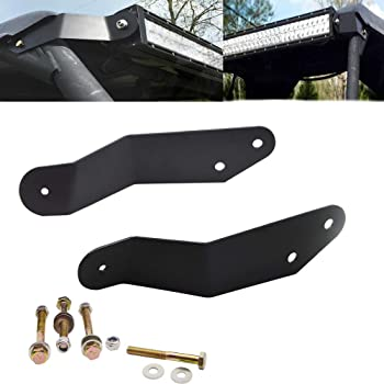 Front Roof Windshield Light Bar and Pods Multi Mount Hole Bracket No Drilling Need for UTV Can-am Maverick X RS Max X3 2017-2019