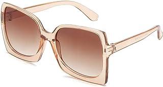 Huguo - Huguo Gafas de Sol de Gran tamaño 2021 Gafas de Sol Vintage para Mujeres/Hombres Gafas de Sol de Lujo Espejo de Mujer Tea