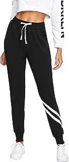 SweatyRocks Women's Drawstring Waist Long Workout Yoga Active Pant with Pocket