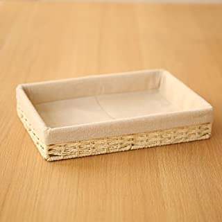 HBWJSH Desktop Debris Box Porch Key Storage Box Change Storage Box Coffee Table Storage Tray (Color : Beige, Size : S 20 * 5 * 13cm)