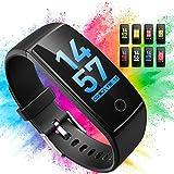 Mpow Activity Tracker 0.96' Schermo Colori Orologio GPS Contapassi Cardiofrequenzimetro da Polso Braccialetto Sport Impermeabile Smart Watch, Pedometro, Calorie Donna Uomo Fit Watch