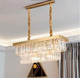 "Crystal Chandelier LED 3 Brightness Gold Crystal Ceiling Light Chandelier Restaurant lamp Chandeliers Ceiling lamp with E12 (L-23.62"" x W-11.8"" x H-11.8"")"