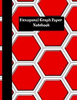 Hexagonal Graph Paper Notebook: 1 Inch Hexagons, 120 Sheets: Hexagonal Notebook not EBook HEX Graph Paper For Sketches, Ga...