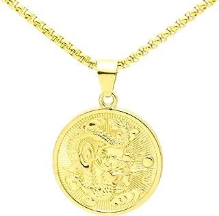 Best gold medallion necklace mens Reviews