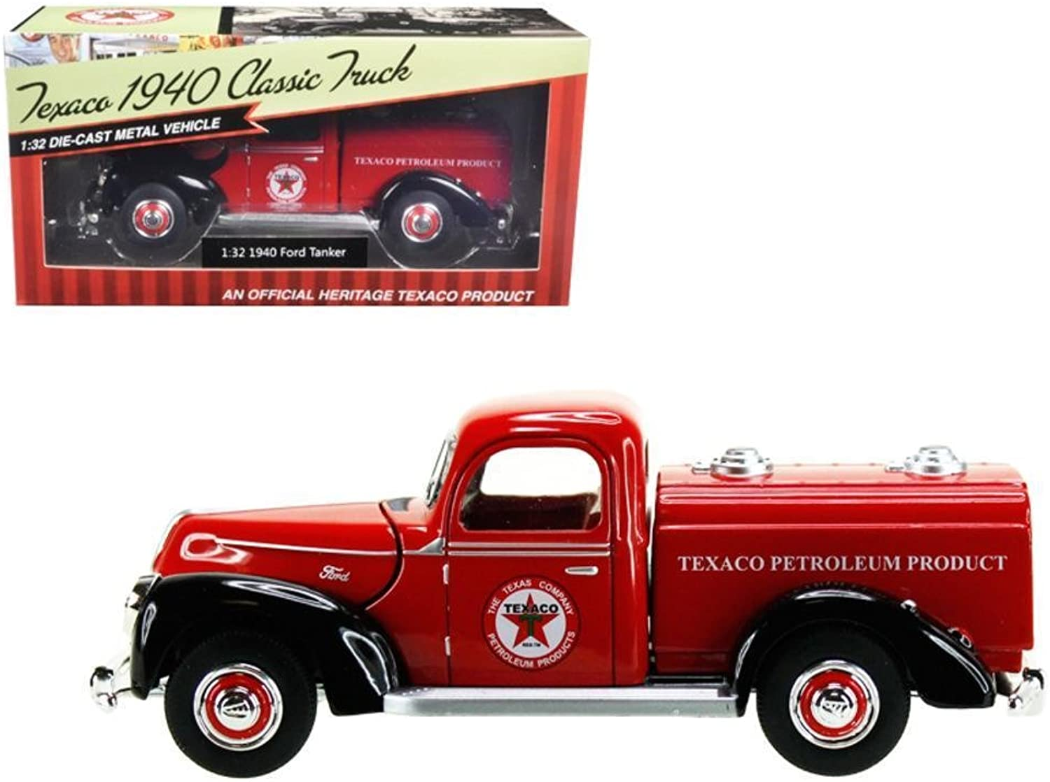 Beyond The Infinity 1940 Ford Tanker \Texaco\ red 1 32 Druckguss Modellauto