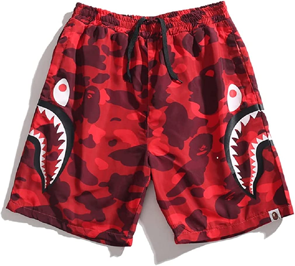 TeeTo Big Mouth Shark Ape Bape Sports Pa Men's 40% OFF Cheap Max 57% OFF Sale Casual Camouflage